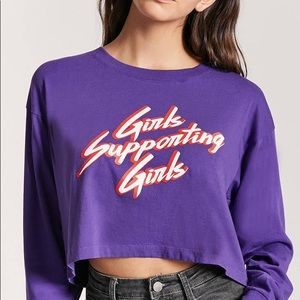 girls supporting girls 💜🔮 purple crop top f21